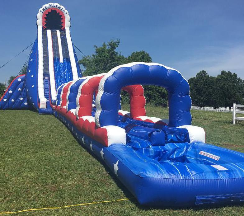 Inflatable Slide Rental Prices: Inflatable 45ft Patriot Water Slide
